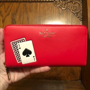 Kate Spade-Lucky Draw-Playing Card-Lg Zip Wallet